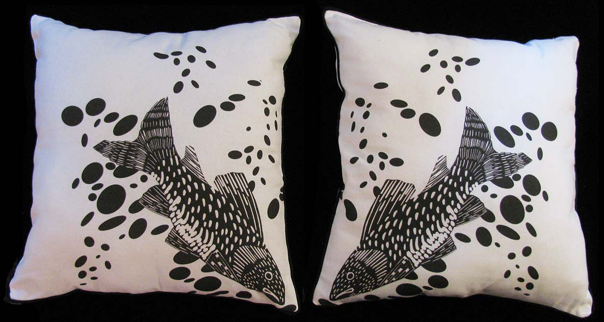 Bubble Fish Pillows