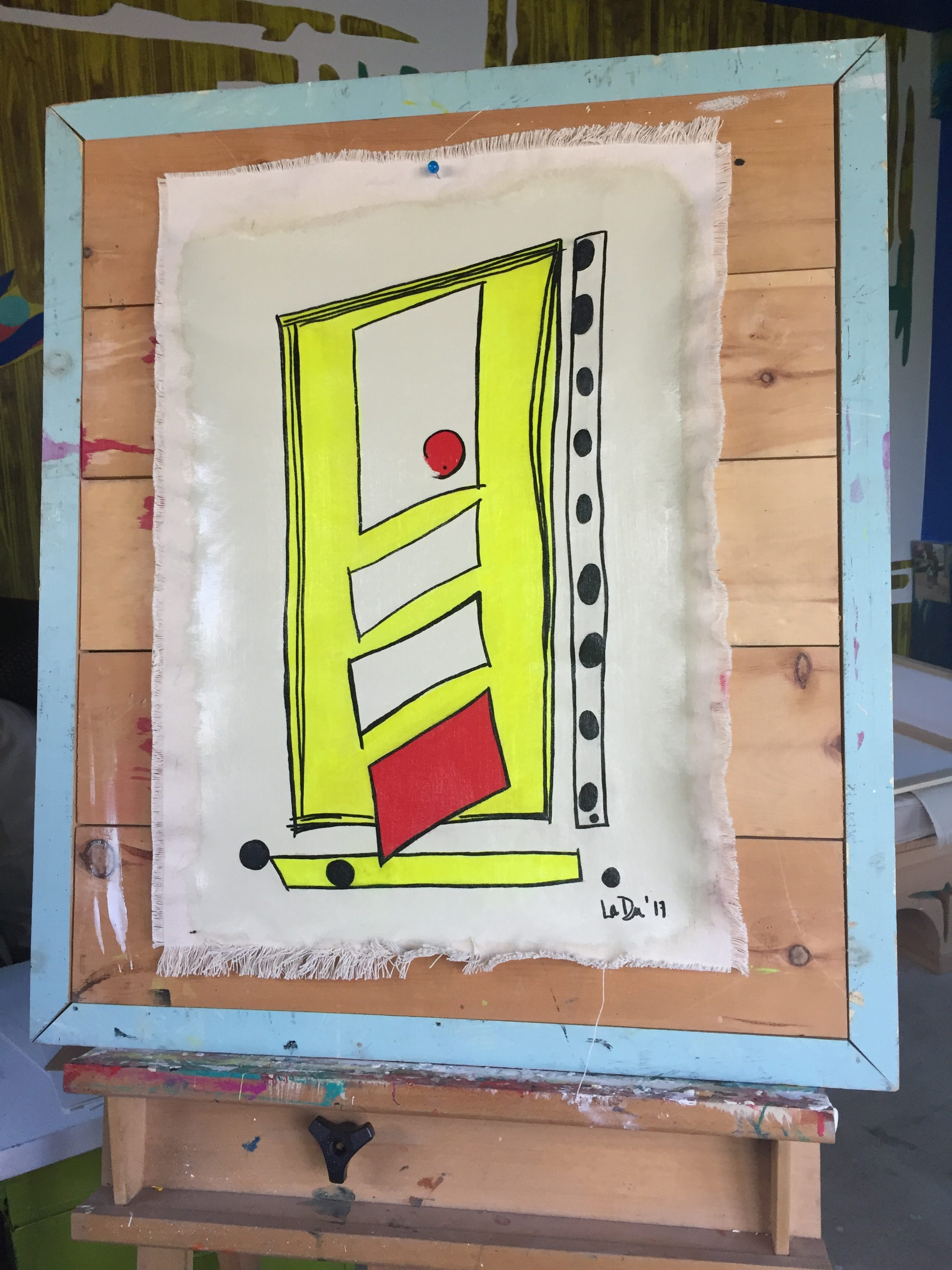 Doors, Works on Canvas, Painting, Abstract, Coloring Pages